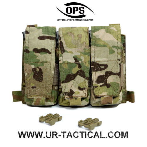OPS Triple M4 Mag Pouch/Panel Multicam