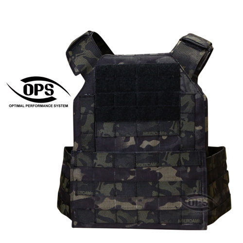 OPS Easy Plate Carrier Multicam Black