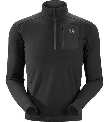 Arc'Teryx Rho LTW Zip Neck Black