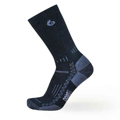 Point 6 Hiking Tech Light Crew Socks Black