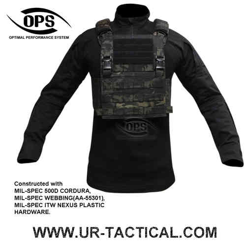 OPS Integrated Tactical Plate Carrier Multicam Black