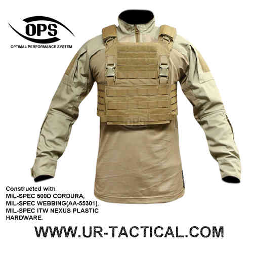 OPS Integrated Tactical Plate Carrier (skeletal cummerbund) Coyote Brown