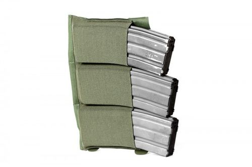 Blue Force Gear Horizontal Ten-Speed Triple M4 Pouch OD Green