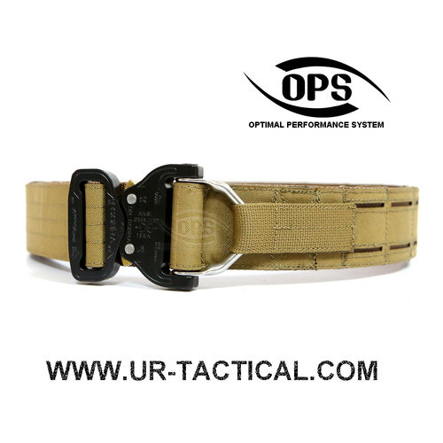 OPS D-Ring Cobra Warrior Belt Coyote Brown