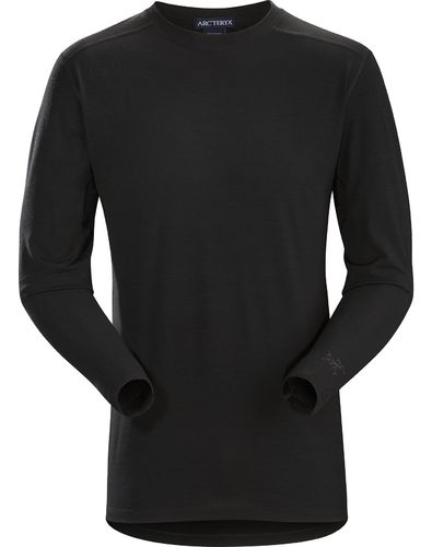 Arc'Teryx LEAF Cold WX LS Shirt AR - Wool Mens Black