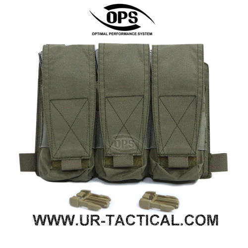 OPS Triple M4 Mag Pouch/Panel Ranger Green