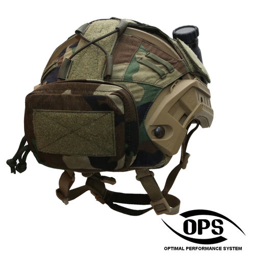 OPS Combat Helmet Counterweight Utility Pocket M81 Woodland