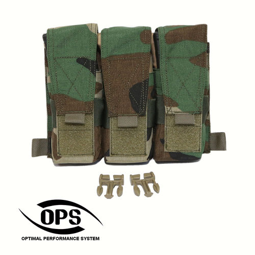 OPS Triple M4 Mag Pouch/Panel M81 US Woodland