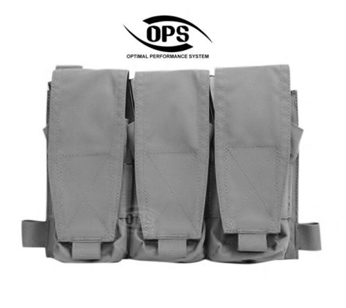 OPS Triple M4 Mag Pouch/Panel Black