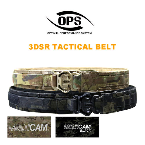 OPS 3DSR Tactical Belt Multicam Black